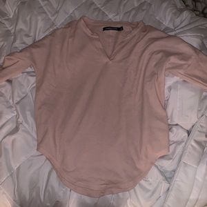 v-neck calvin klein long sleeve
